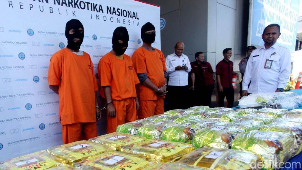 BNN Ungkap 3 Kasus Penyelundupan Narkoba