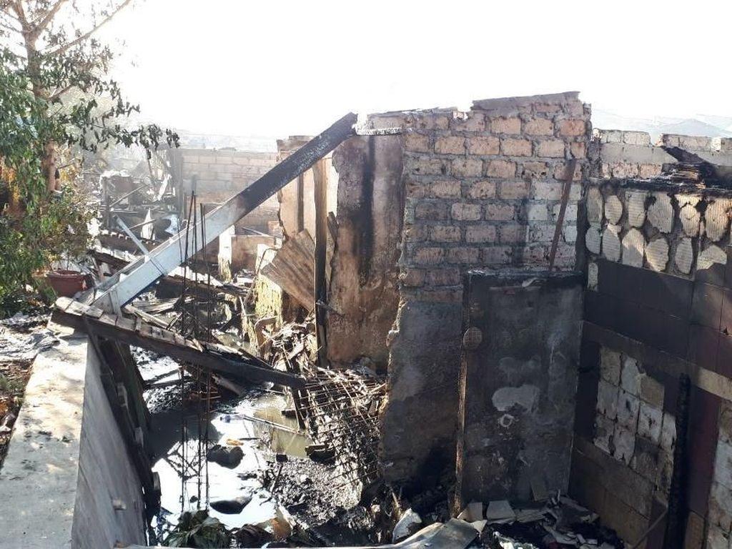 Penampakan Ratusan Rumah di Taman Kota yang Hangus Dilahap Api