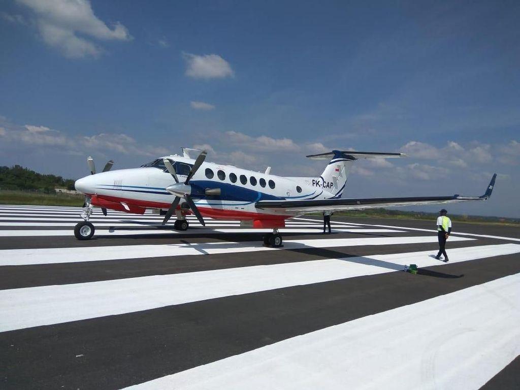 Cek Kesiapan, Validasi Navigasi di Bandara Kertajati Dilanjutkan