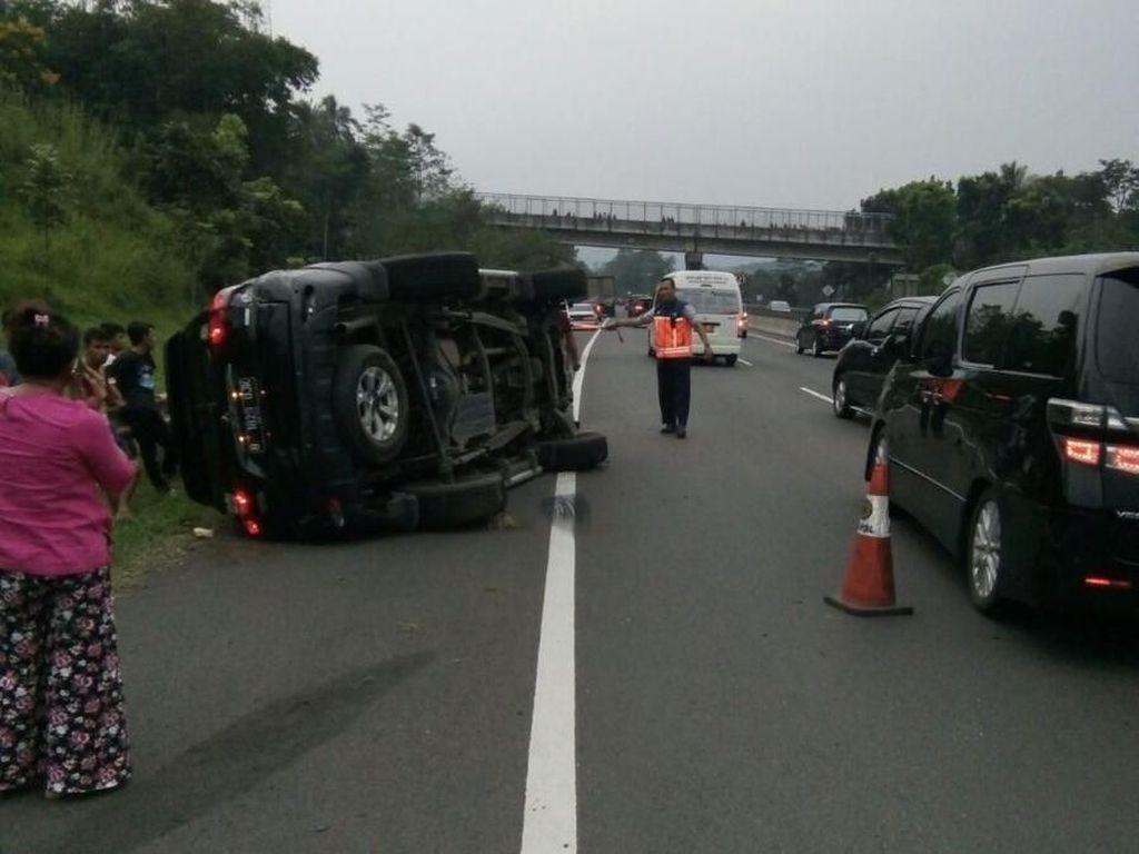 Ada Kecelakaan di KM 100 Tol Purbaleunyi-Cileunyi, Lalin Macet