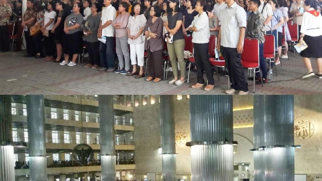 Foto: Harmonisnya Ibadah di Katedral dan Istiqlal