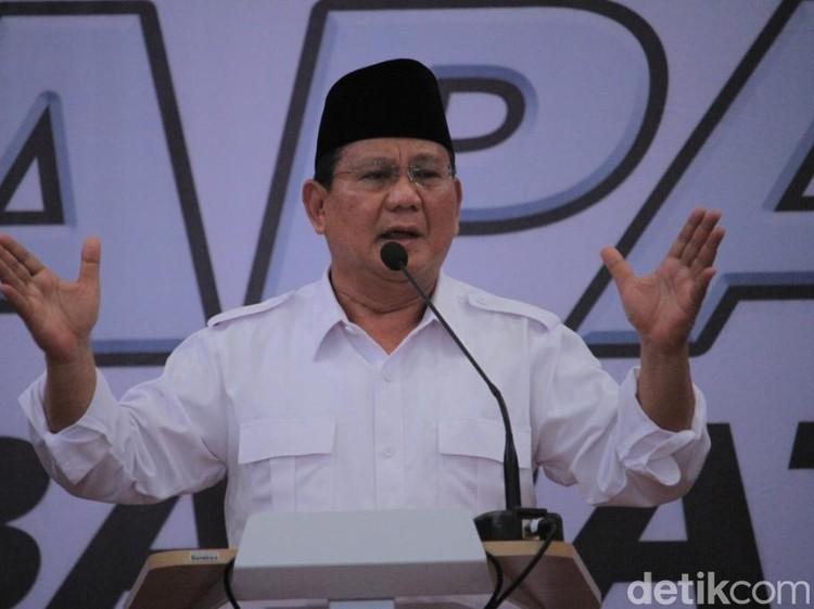 Resmi! Gerindra Usung Prabowo di Pilpres 2019