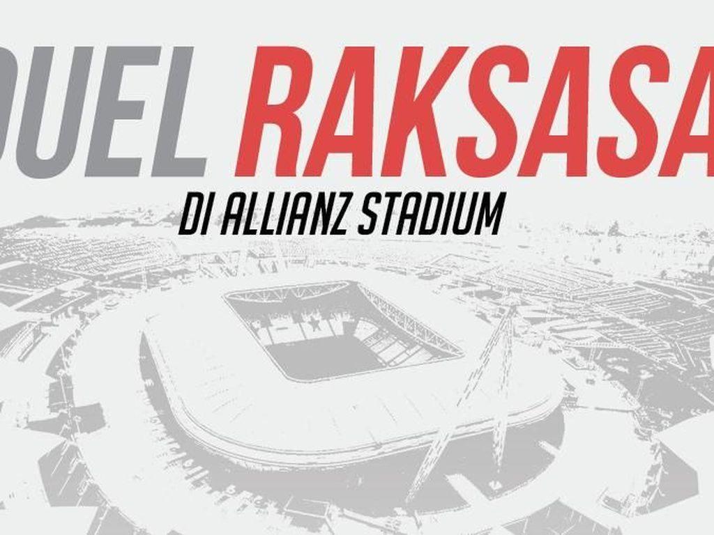 Duel Juve dan Milan di Allianz Stadium