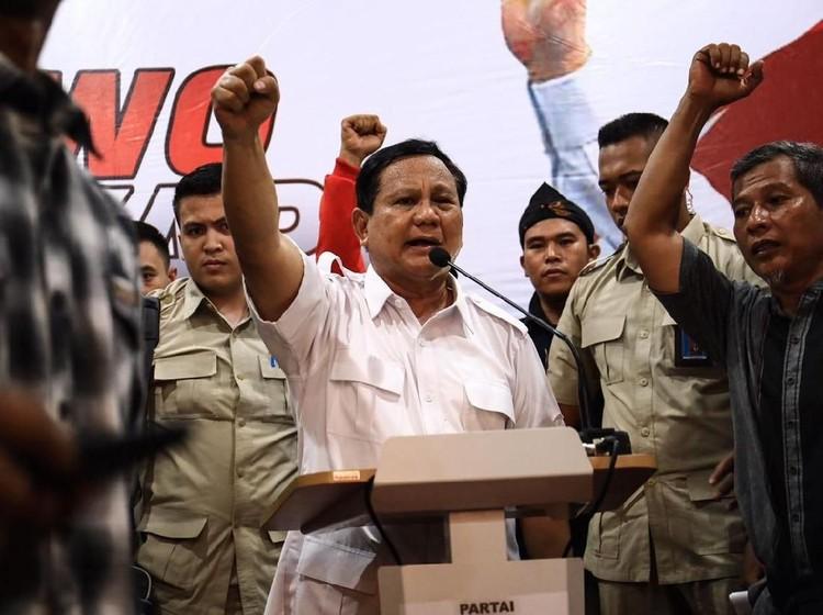 Ketua Gerindra: Prabowo Terima Mandat Jadi Capres