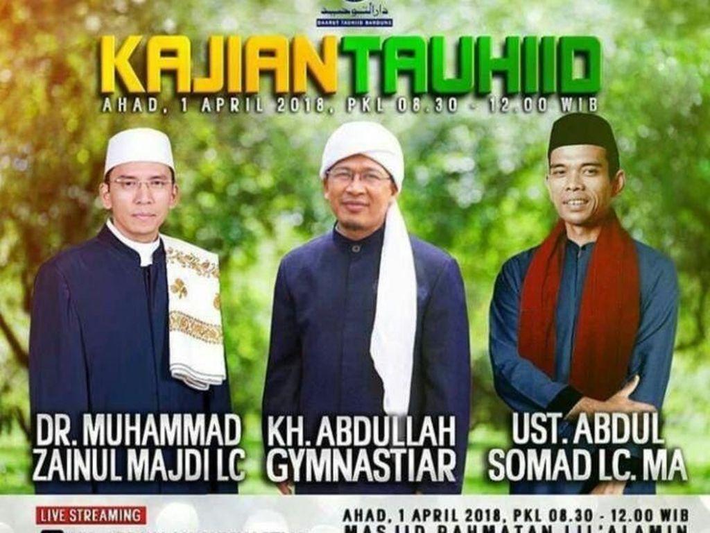 Besok, Ustaz Somad dan TGB Dakwah di Pesantren DT Milik Aa Gym