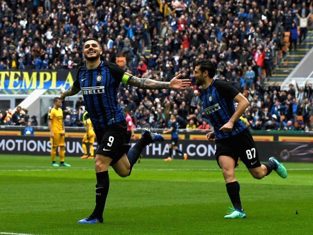 Icardi Dua Gol, Inter Kalahkan Verona 3-0