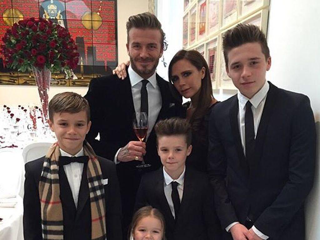 David Beckham Sedih Ketiga Putranya Tak Mau Jadi Pesepakbola