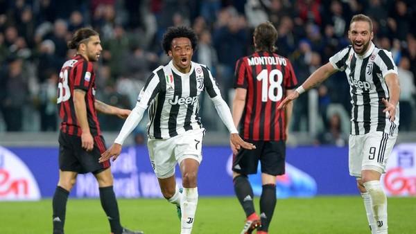 Juventus Benamkan Milan 3-1