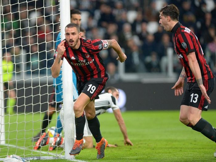 Pemain AC Milan, Leonardo Bonucci. (Foto: Massimo Pinca/Reuters)