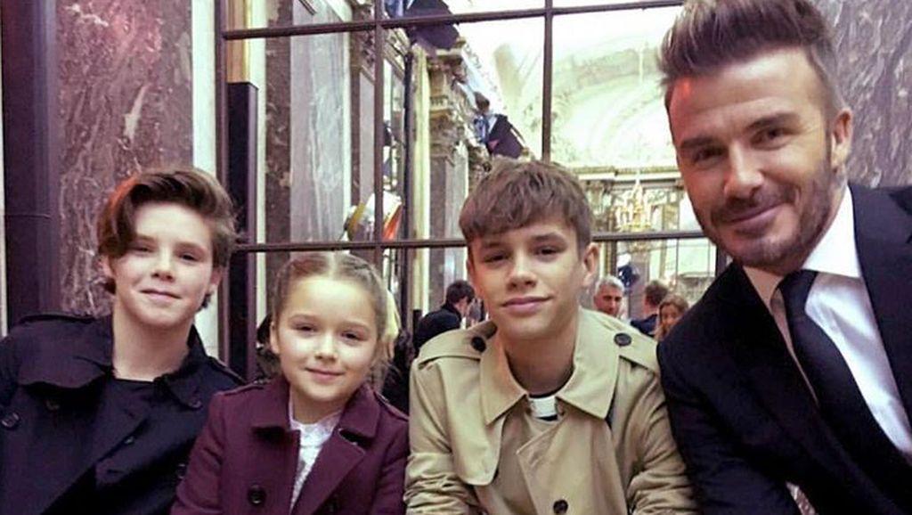 Mengintip Keseruan Anak-anak David Beckham Belajar Bikin Cokelat