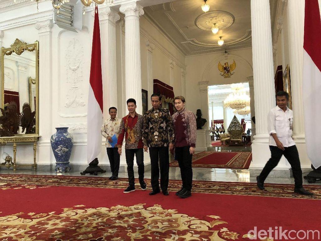 Usai Juara All England, Kevin/Marcus Bertemu Jokowi di Istana