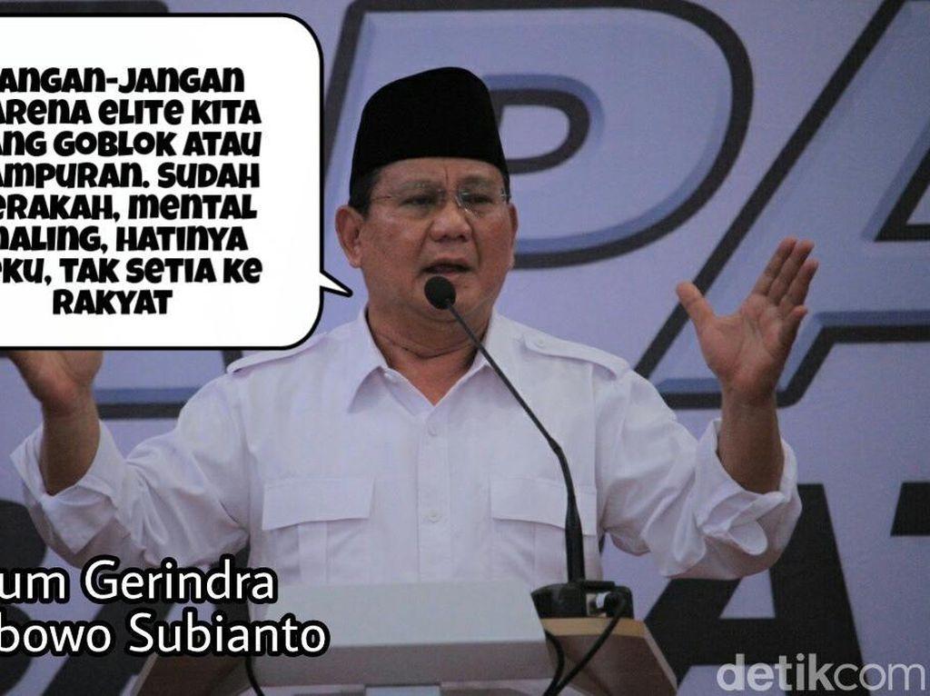 Meme Politik: Pidato Kontroversial Prabowo