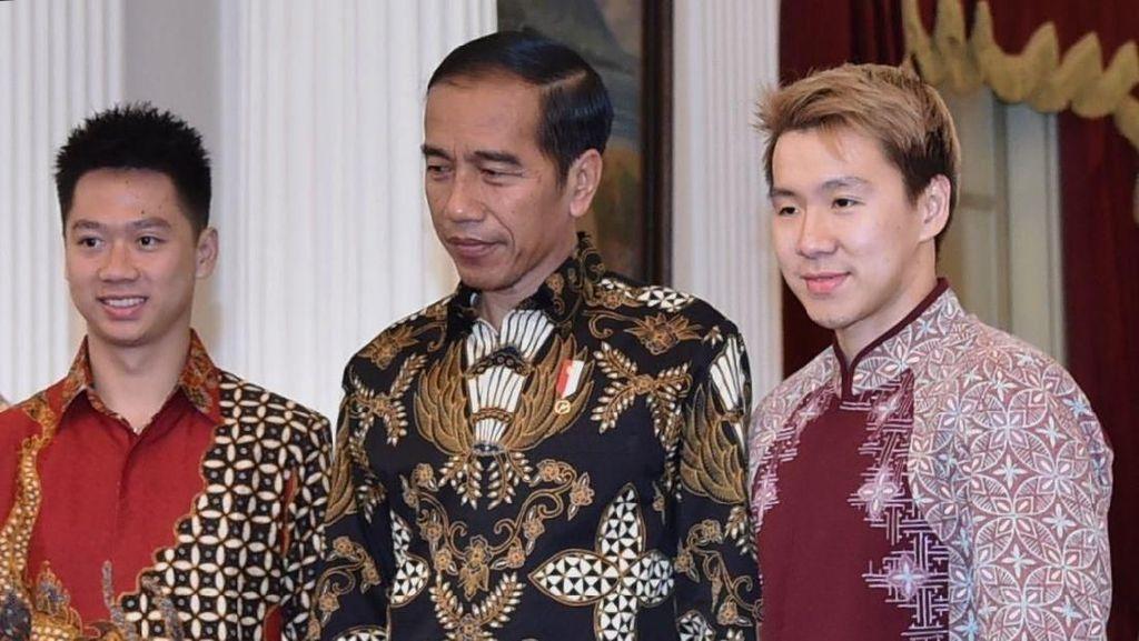 Presiden Jokowi Percayakan Emas Asian Games 2018 di Pundak Kevin/Marcus