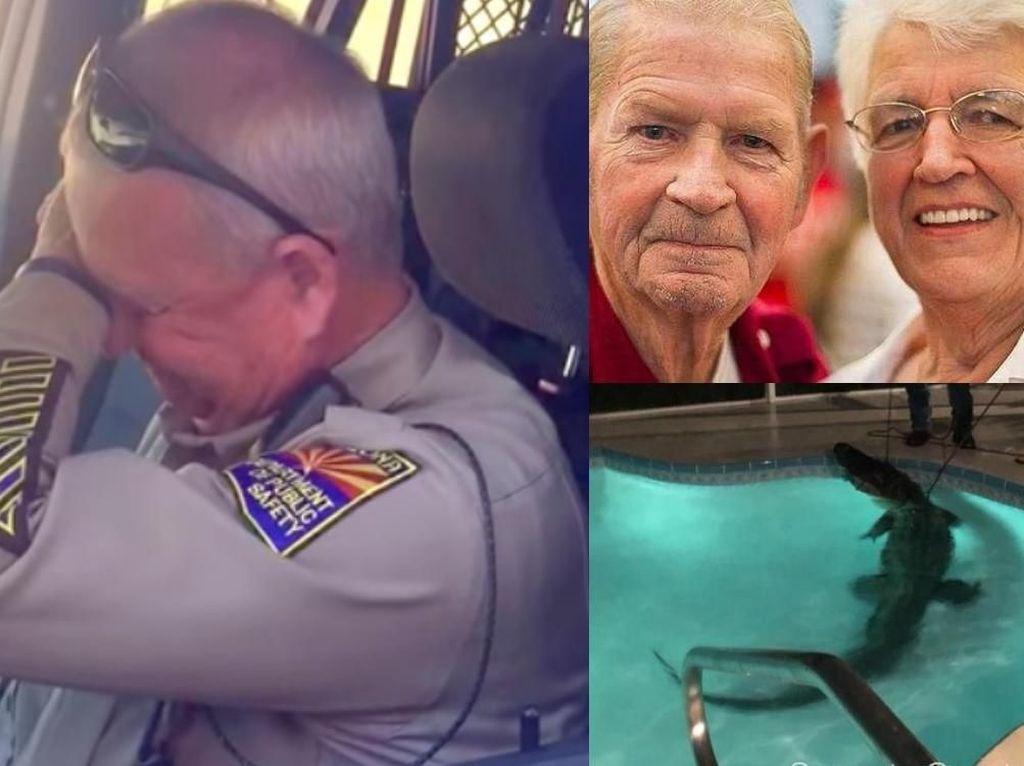 Riuh Dunia dalam Gambar: Polantas Pensiun, Aligator di Kolam Renang