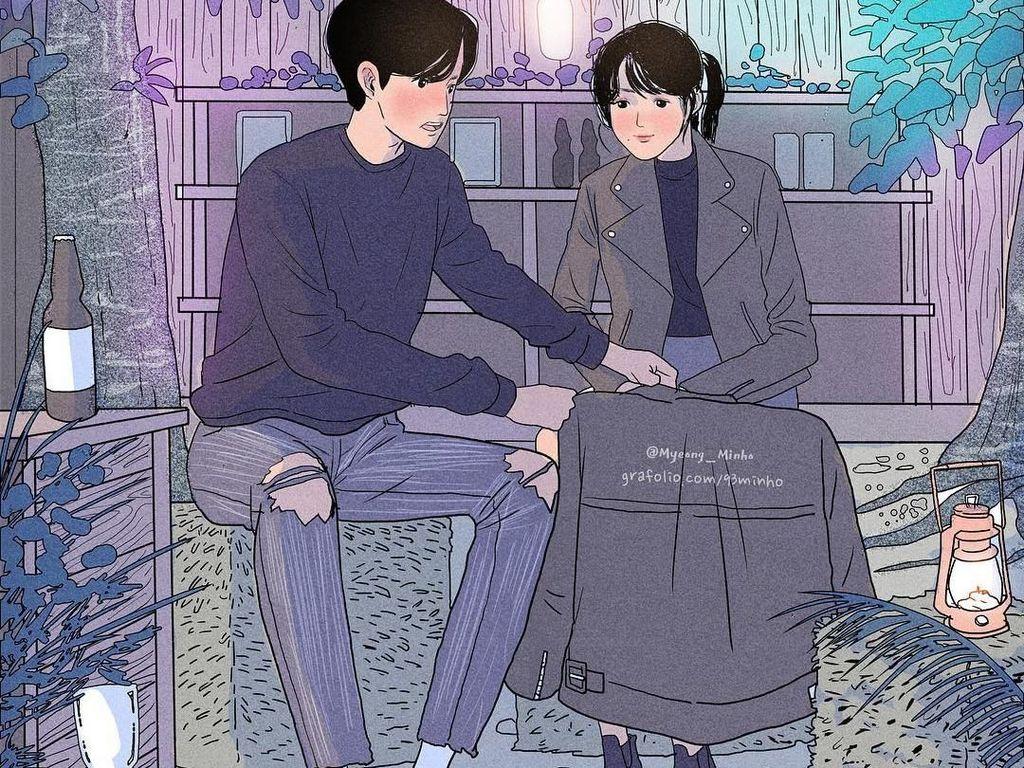 10 Ilustrasi Bukti Pria Bisa Romantis dengan Cara Sederhana, Awas Baper!