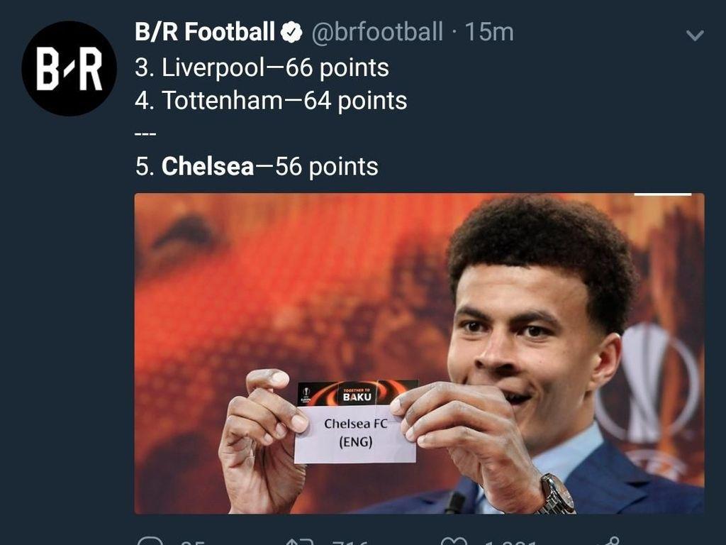 Meme: Tottenham Kirim Chelsea ke Liga Europa