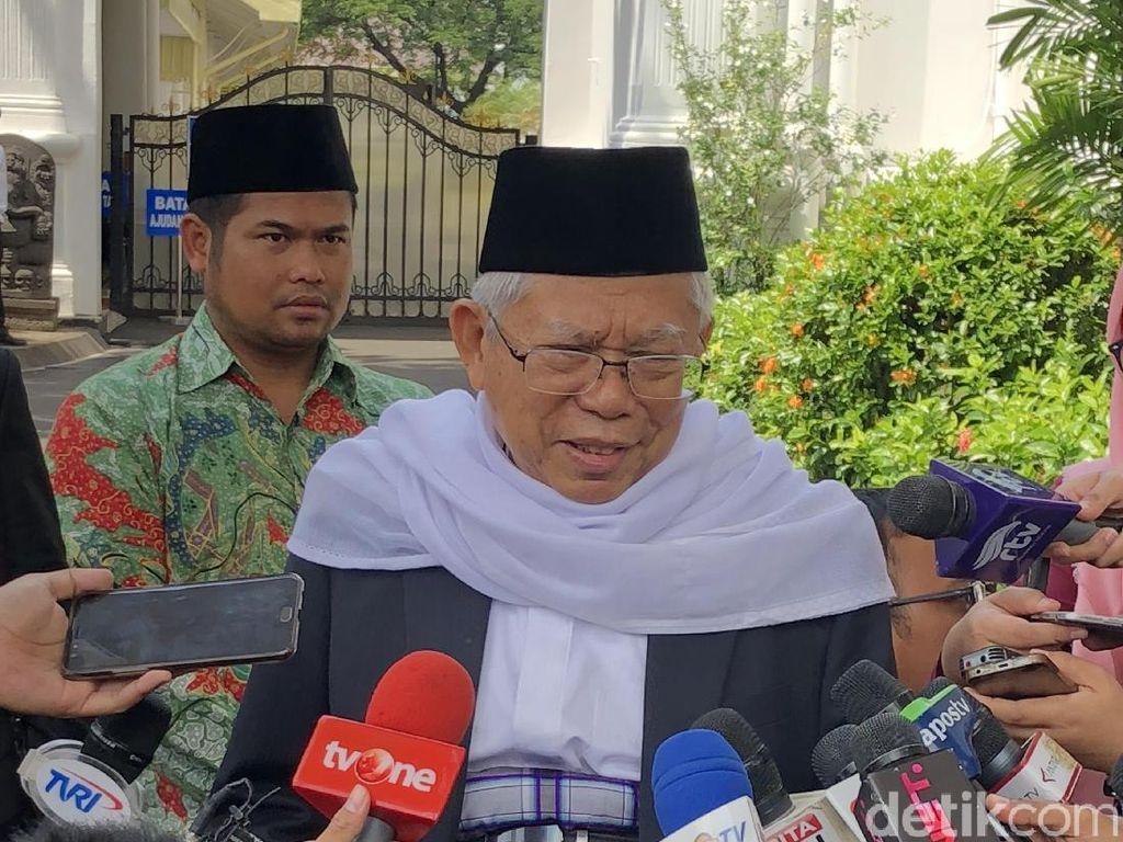 Maruf Amin Siap Jadi Cawapres, Mahfud Serahkan ke Jokowi