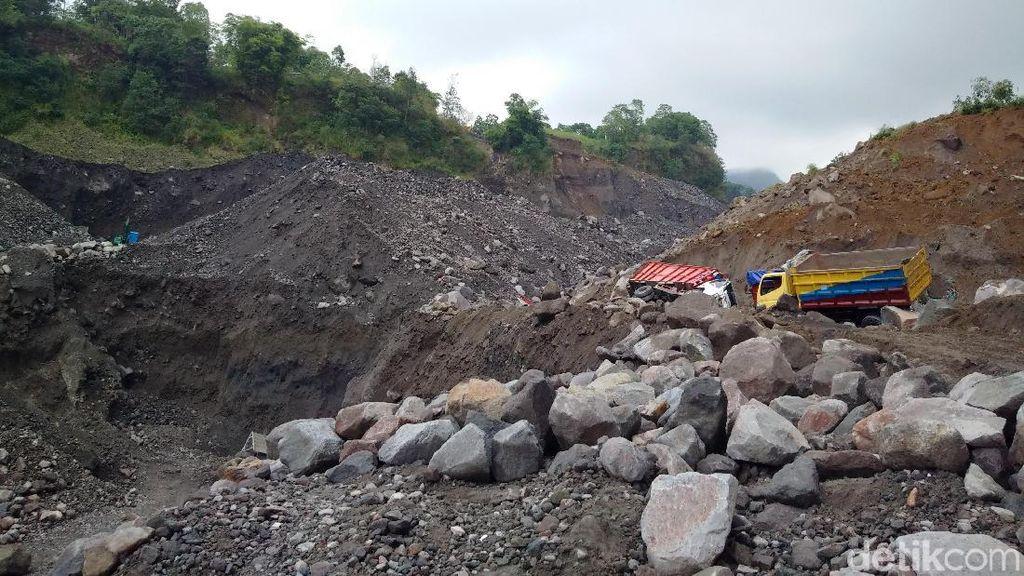 Foto: Ini Lokasi Longsor di Tambang Pasir Merapi