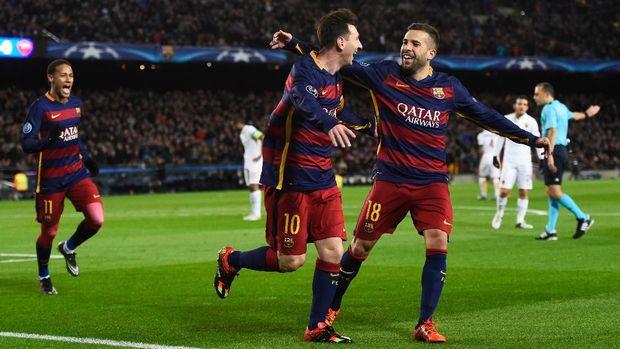Lionel Messi lebih riang memainkan sepakbola dalam seragam Barcelona