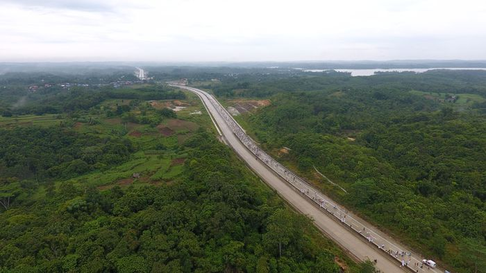 Hingga awal bulan Februari 2018, pembangunan konstruksi Jalan Tol Balikpapan-Samarinda telah mencapai 48,48%, kata Direktur Utama PT JBS Arie Irianto. (Foto: dok. Wika)
