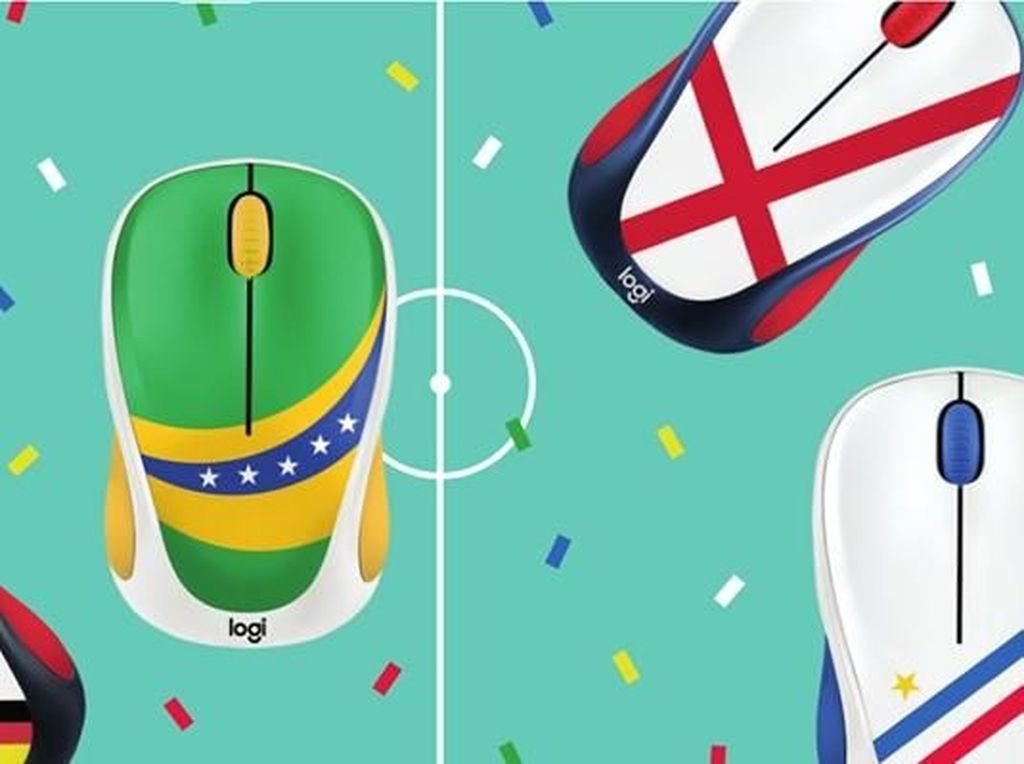 Logitech Bikin Mouse Bertema Bendera Peserta Piala Dunia