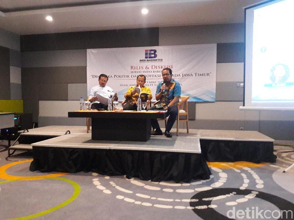 Survei Indo Barometer: Gus Ipul-Puti 45,2%, Khofifah-Emil 39,5%