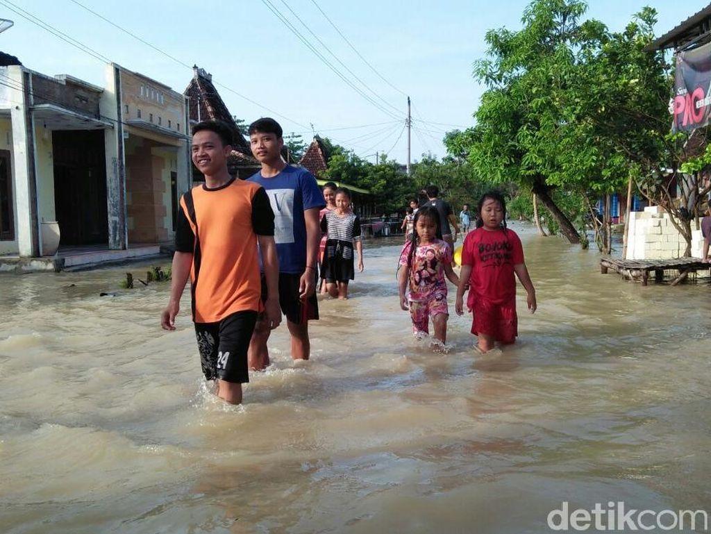 Embung Meluap, 4 Desa di Rembang Diterjang Banjir