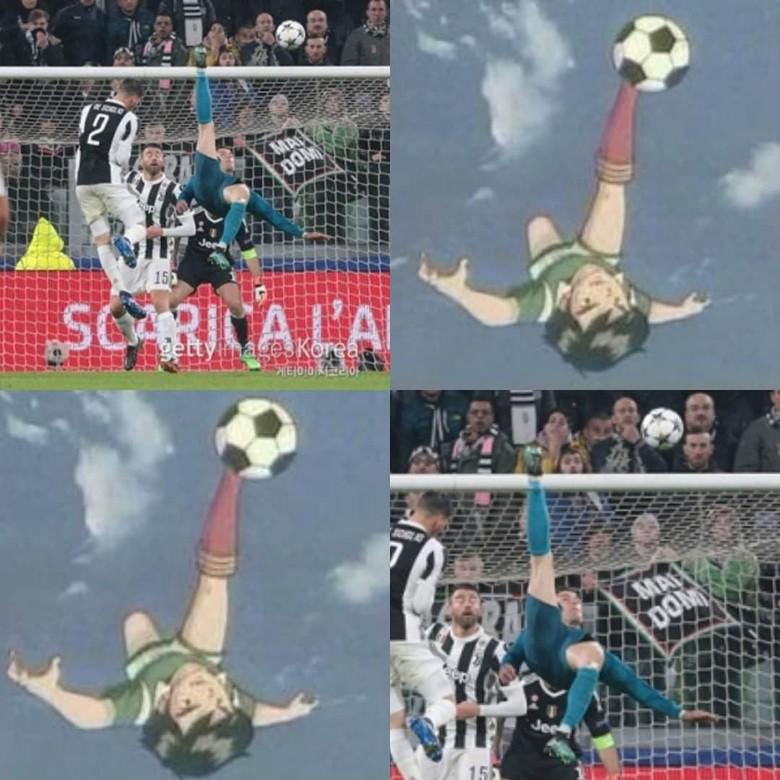 Meme Meme Lucu Gol Salto Ronaldo