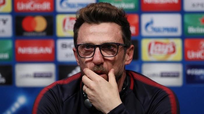 Eusebio Di Francesco membawa AS Roma menjungkalkan Barcelona (REUTERS/Albert Gea)