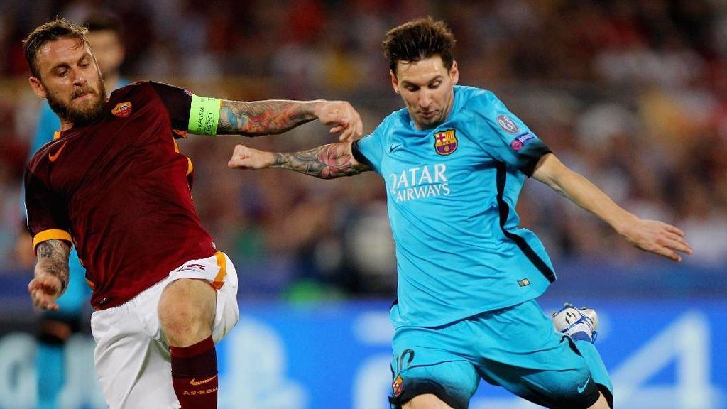 Roma Tak Gentar Hadapi Messi cs