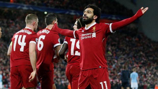 Mohamed Salah menampilkan performa yang baik bersama Liverpool di Liga Inggris 2018.