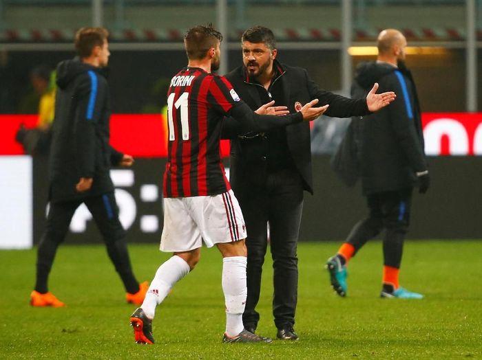 Pelatih AC Milan, Gennaro Gattuso. (Foto: Tony Gentile/Reuters)