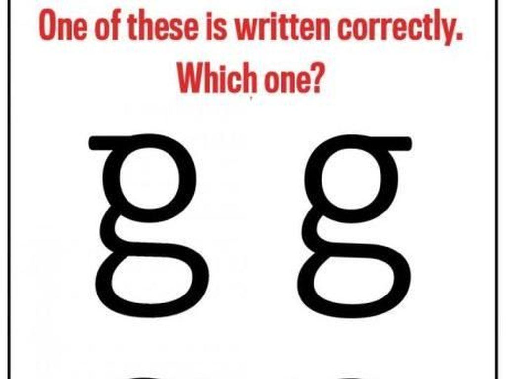 Banyak yang Salah Menuliskan Huruf Kecil G, Kamu Termasuk?
