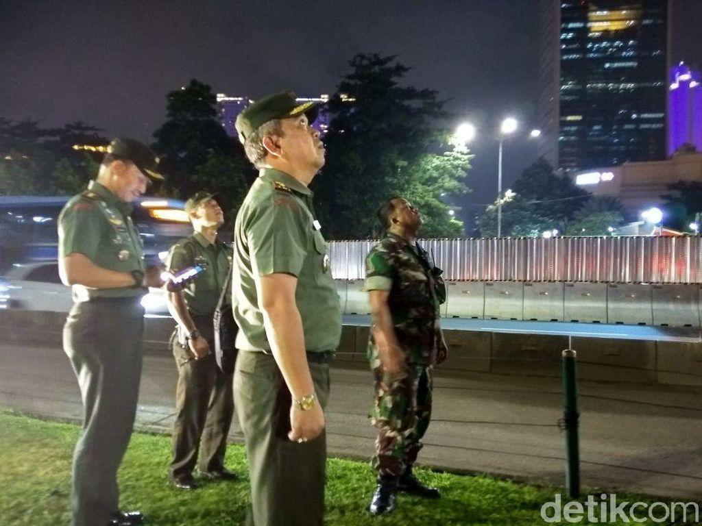 Dandim Jakpus Cek Patung Jenderal Sudirman yang Bolong