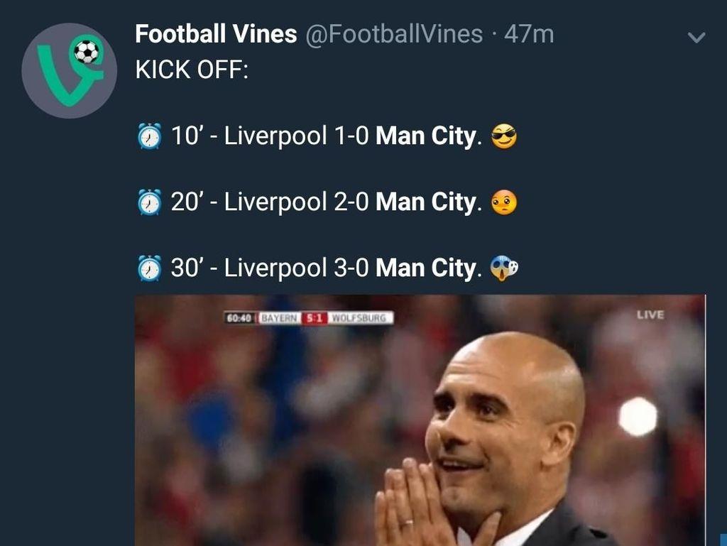 Dihantam Liverpool, City Langsung Dihajar Meme