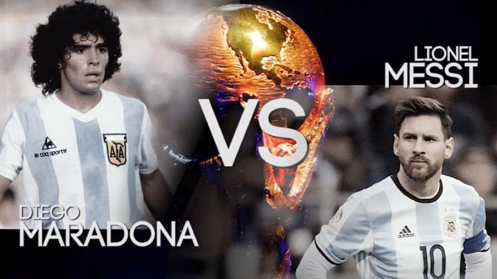 Maradona Vs Messi, Lihat Videonya!