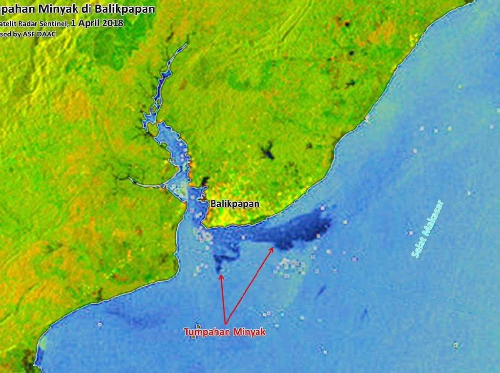 BNPB: Luas Tumpahan Minyak di Teluk Balikpapan Capai 12.987 Ha