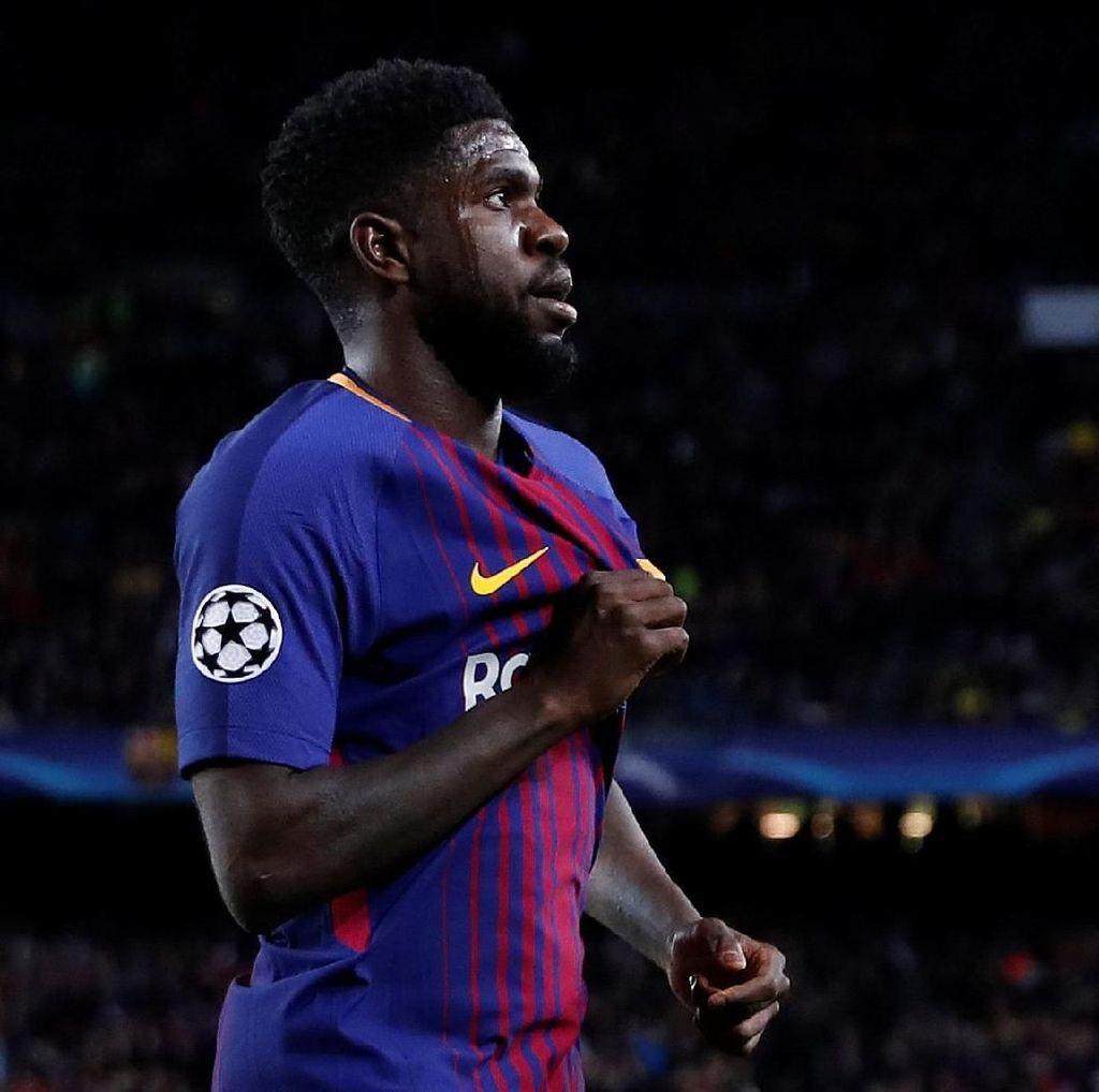Umtiti: Perpanjang Kontrakku, Barca!
