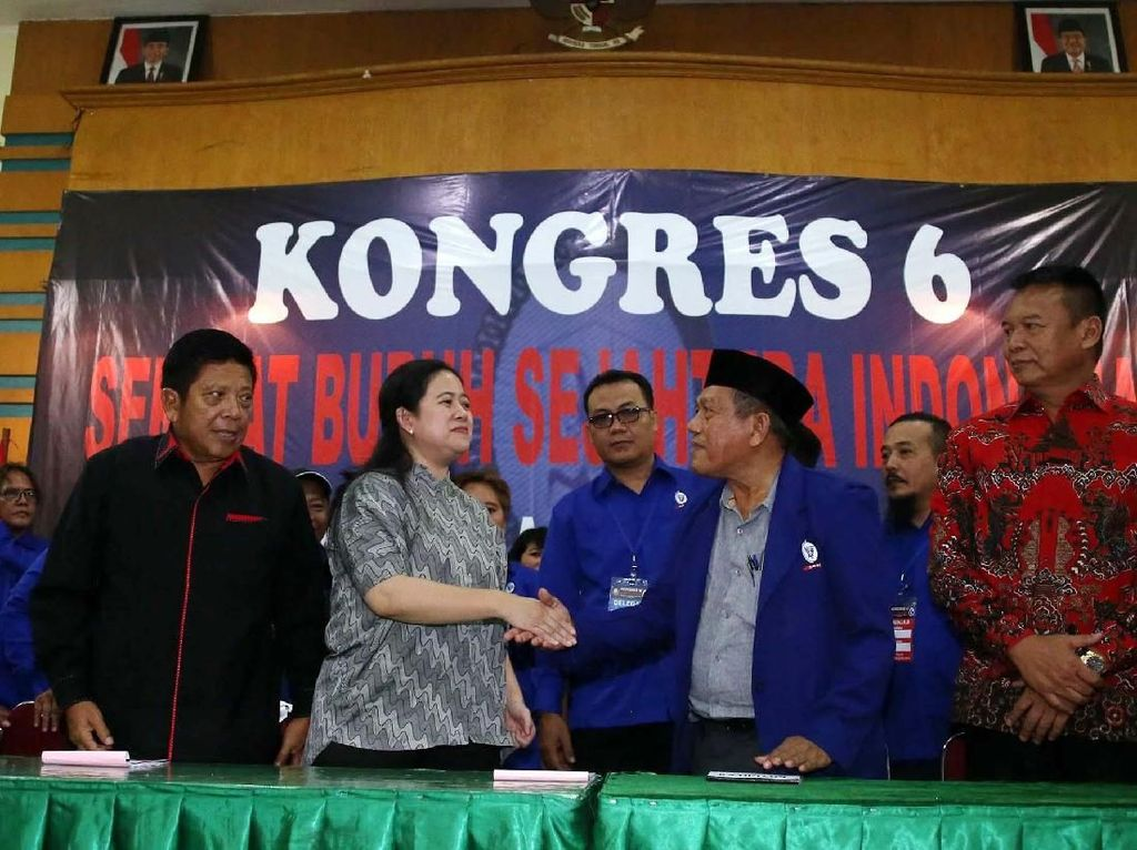 Menteri Puan Buka Kongres SBSI Ke-6