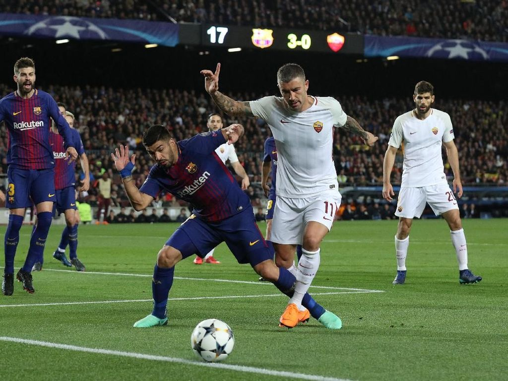 Bagi Suarez, Skor Kemenangan atas Roma Agak Berlebihan