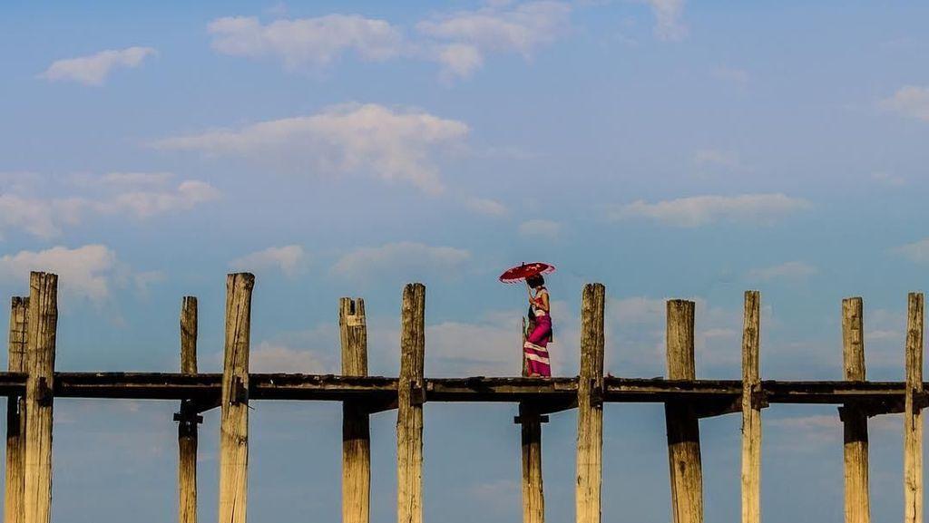 Foto: Jembatan Kayu Terpanjang Sedunia Ada di Asia Tenggara?