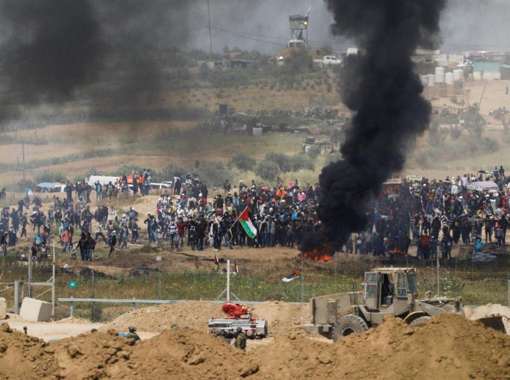 Warga Palestina dan Tentara Israel Bentrok Lagi di Perbatasan Gaza