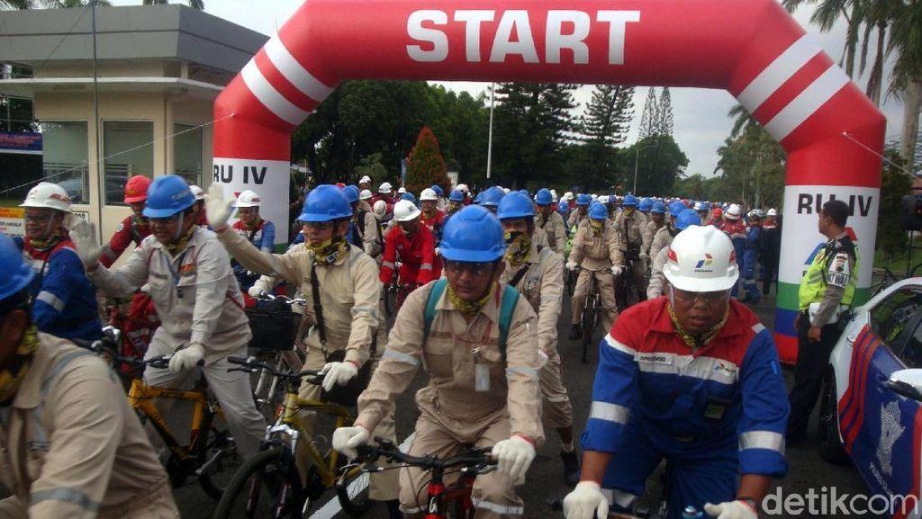 Bike To Work Pertamina RU IV Cilacap Pecahkan Rekor Muri