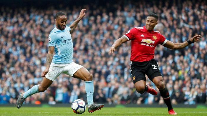 Pep Guardiola terkejut dengan konsistensi Manchester City atas Manchester United dalam tiga musim terakhir (Foto: Russell Cheyne/REUTERS)