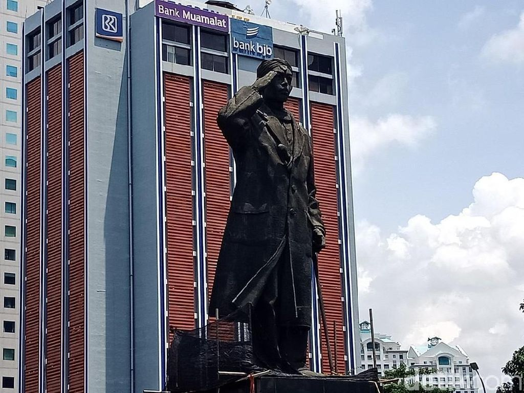 Penampakan Patung Jenderal Sudirman yang Tak Lagi Bolong