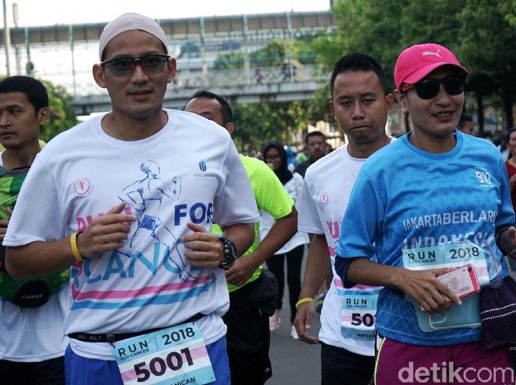 Janji Sandiaga Uno: Kalau Terpilih Akan Rutin Lari ke Istana Wapres