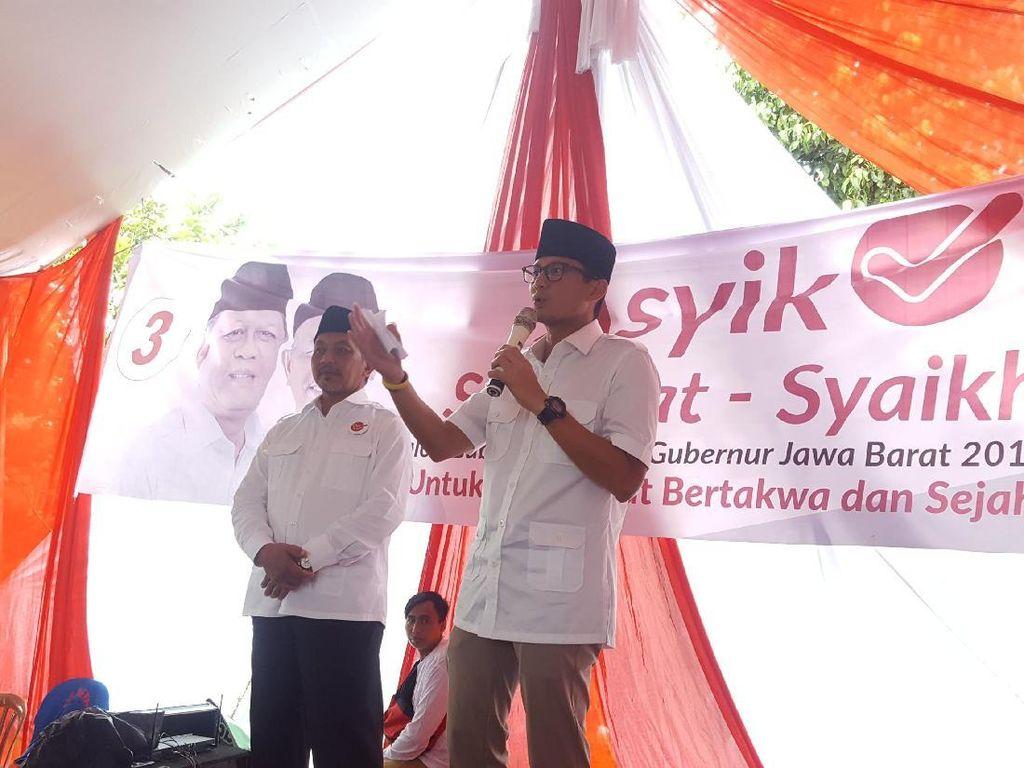 Sandiaga Jamin Sudrajat-Syaikhu Adopsi OK OCE di Depok