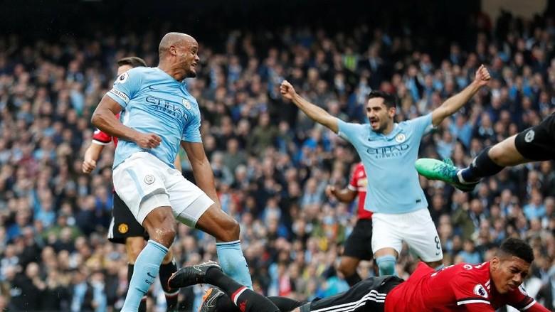 Ungguli MU 2-0, City Berjarak 45 Menit dengan Trofi Premier League