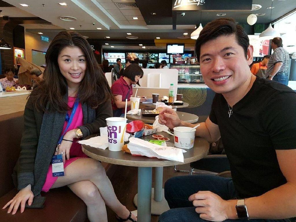 Mengintip Gaya Anthony Tan, CEO Grab Saat Ngopi  dan Makan Fast Food