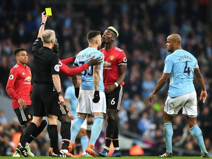 Derby Manchester di Liga Inggris. (Foto: Michael Regan/Getty Images)
